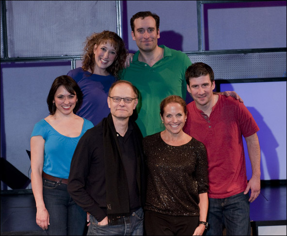 David Hyde Pierce and Katie Couric with Joanna Young, Courtney Balan, Chris Hoch and David Josefsberg
