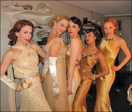 "The beautiful ladies get into their ""Blow Gabriel Blow"" dresses.