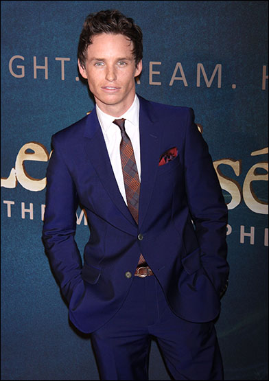 Stars and celebrity guests turned out for the Dec. 10 New York premiere of the Les Misérables film. Eddie Redmayne plays Marius in the picture.