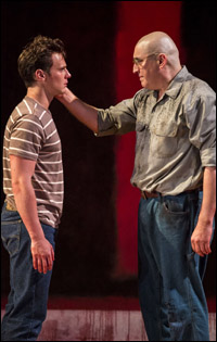 Jonathan Groff and Alfred Molina in <i>Red</i>.
