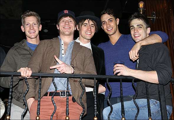 Jamison Scott, Christopher Tierney, Reeve Carney, Reed Kelly, and Brett Thiele