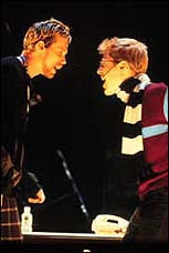 From Left: Adam Pascal and Anthony Rapp in the original Broadway cast of <I>Rent</I>.