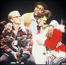 Harris in the 1997 La Jolla Playhouse production Rent.
