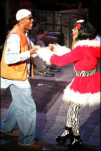Michael McElroy and Justin Johnston in <I>Rent</I>.