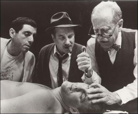 David Proval, Richard Dreyfuss, Daniel F. Keyes and John Lithgow in Requiem for a Heavyweight, 1985