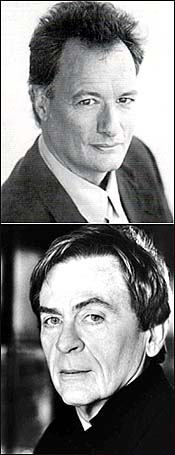 (From top) <I>Blues</I> Men: John de Lancie and Daniel Davis.