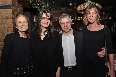 Gloria Steinem, director Pam MacKinnon, Neil Pepe, Christine Lahti