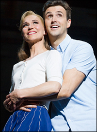 Joanna Riding and Michael Xavier in <i>The Pajama Game</i>