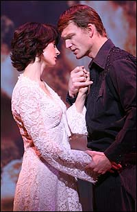 Beth Malone and Jarrod Emick in <I>Ring of Fire</I>