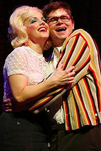 Alice Ripley and Hunter Foster in <i>Little Shop of Horrors</I>.