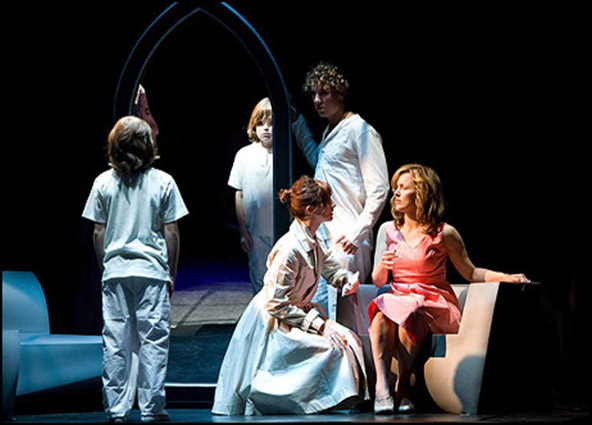 LJ Benet, Aleks Pevec, Anna Schnaitter and Alice Ripley in the 2008 Los Angeles production of The Who's Tommy.