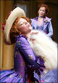 Emily Bergl (front) and Carrie Preston in <I>The Rivals</I>