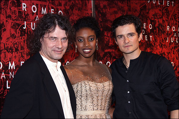 David Leveaux, Condola Rashad and Orlando Bloom