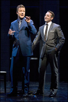 Will Chase and Eric Schneider in Robin and the 7 Hoods at The Old Globe