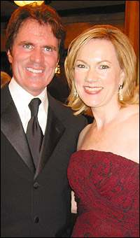 Kathleen Marshall (r.) with brother Rob Marshall.