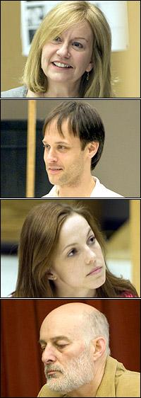 <I>Rock 'n' Roll</I> stars Mary Beth Fisher, Timothy Edward Kane, Mattie Hawkinson and Stephen Yoakam in rehearsal.