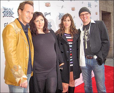 Patrick Wilson, wife Dagmara, sister/actress Veronika Dominczyk and actor Matthew Stocke