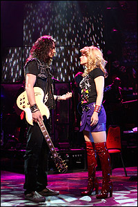 <I>Rock of Ages</I> stars Constantine Maroulis and Amy Spanger.