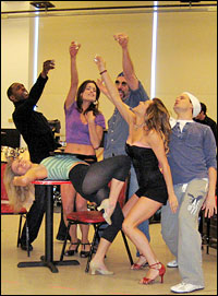 <I>Rock of Ages</i> rehearses for Broadway