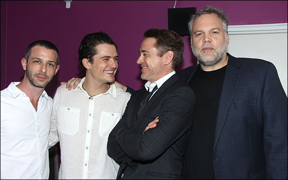Jeremy Strong, Orlando Bloom, Robert Downey, Jr. and Vincent D'Onofrio