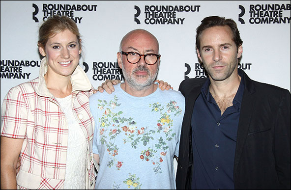 Charlotte Parry, Lindsay Posner and Alessandro Nivola