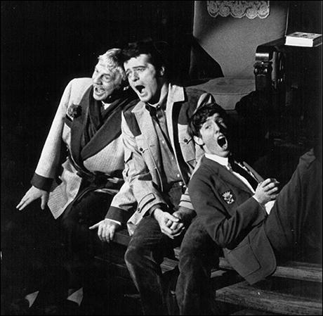 David Wayne, Robert Goulet and Michael Rupert in The Happy Time, 1968