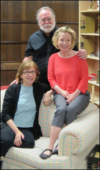 Julianne Boyd, Mark St. Germain and Debra Jo Rupp in rehearsal.