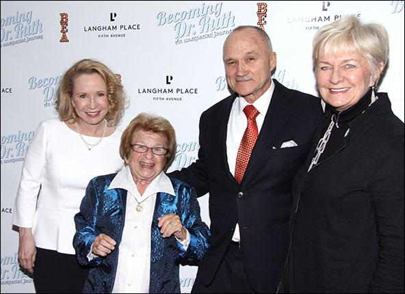 Debra Jo Rupp, Dr. Ruth K. Westheimer, Raymond Kelly and Veronica Kelly