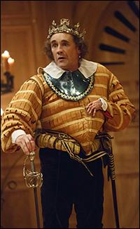 Mark Rylance in <i>Richard III</i>.