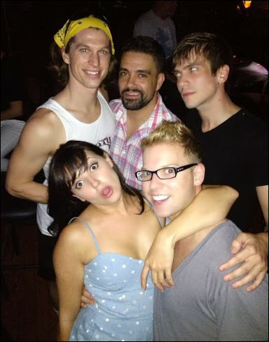 """""""The Night Out"""" Rachel Potter, Scott Daniel, Chase Peacock and Griffeth Whitehurst out on the town with director Eric Davis"""