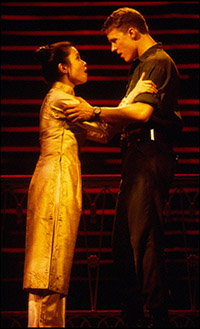 Lea Salonga and Will Chase in the final Broadway company of <i>Miss Saigon</i>.