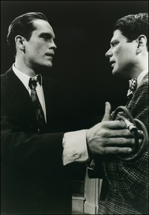 John Malkovich and Stephen Lang in the 1984 Broadway revival