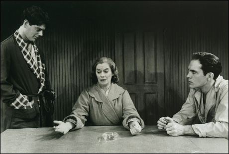 Stephen Lang, Kate Reid and John Malkovich in the 1984 Broadway revival