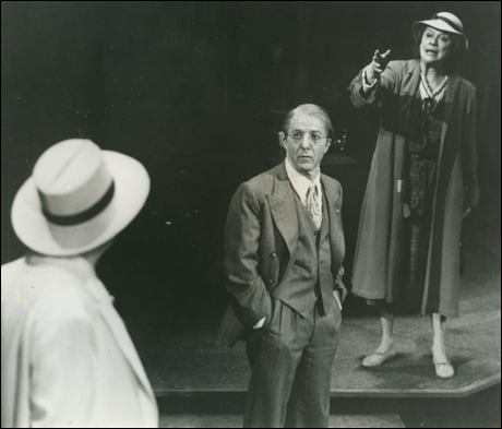Louis Zorich, Dustin Hoffman and Kate Reid in the 1984 Broadway revival