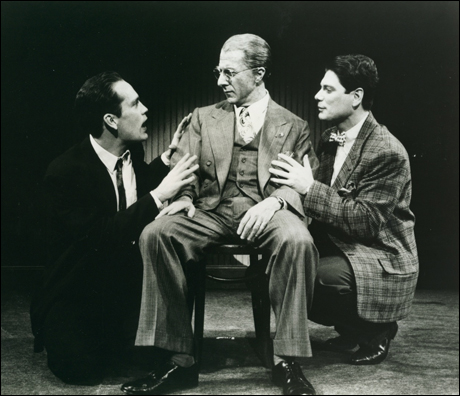 John Malkovich, Dustin Hoffman and Stephen Lang in the 1984 Broadway revival