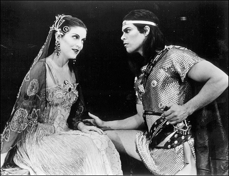 Sheryl Lee and Esai Morales in the 1992 Broadway production of Salome.
