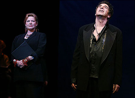 Dianne Wiest and Al Pacino in a 2003 limited-run Broadway staged reading of Salome.