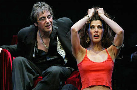 Al Pacino and Marisa Tomei in a 2003 limited-run Broadway staged reading of Salome.