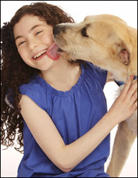 Broadway's current <i>Annie</i> stars Lilla Crawford and Sunny (aka '
