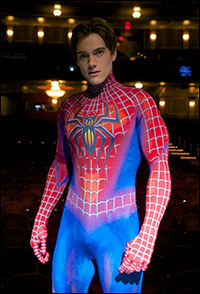 Current <i>Spider-Man Turn Off the Dark</i> star Justin Mathew Sargent