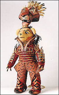 Broadway Bear: John Vickery as Scar in <i>The Lion King</i>.