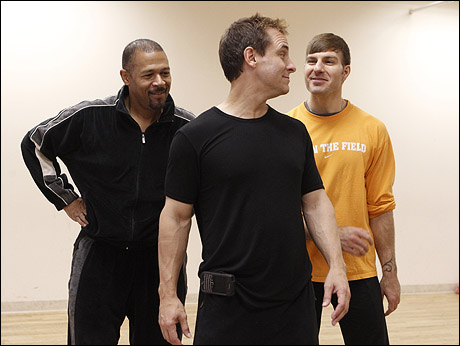 Eugene Barry-Hill, Marcus Lovett and Karl Warden