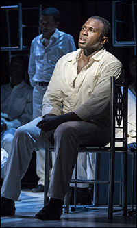 Joshua Henry in <i>The Scottsboro Boys</i>.