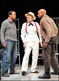 <I>The Scottsboro Boys</i> stars Rodney Hicks, John Cullum and Brandon Victor Dixon, at the Vineyard Theatre.
