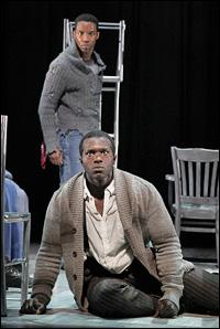 Rodney Hicks (standing) and Joshua Henry