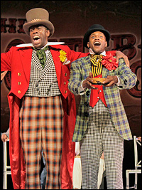 Colman Domingo and Forrest McClendon in <i>Scottsboro Boys</i>.