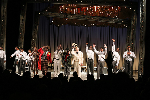 The cast of The Scottsboro Boys