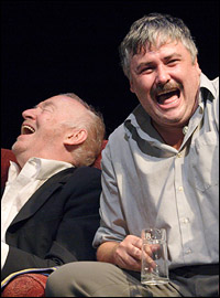 Jim Norton and Conleth Hill in the London production of <i>The Seafarer</i>.