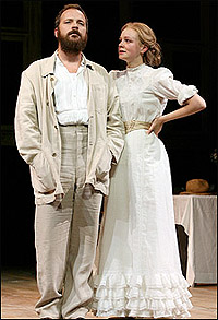 Peter Sarsgaard and Carey Mulligan in <I>The Seagull.</i>