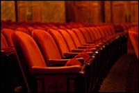The refreshed seats at Broadway's August Wilson Theatre.